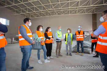 Sopralluogo al cantiere del nuovo Palazzetto dello sport di Guastalla - Sassuolo 2000