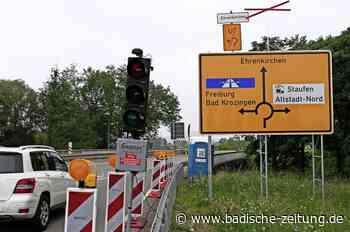 Verkehrsbehinderungen durch halbseitige Ampelregelung - Staufen - Badische Zeitung