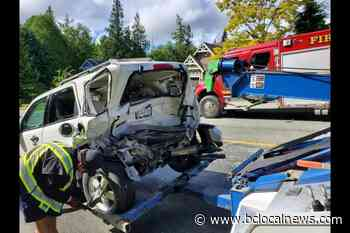 Mill Bay woman says it's a miracle no one injured in crash – BC Local News - BCLocalNews