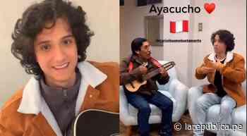 Vasco Madueño sorprende con interpretación del tema Adiós pueblo de Ayacucho - LaRepública.pe