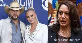 Jason Aldean's Wife Trashes Kamala Harris Over Tone-Deaf Memorial Day Tweet - Radar Online