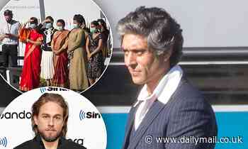Filming continues on the upcoming Charlie Hunnam led TV series Shantaram in Melbourne - Daily Mail
