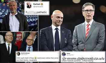 Furious fans slam Premier League Big Six fine of just £22m for secret European Super League plot