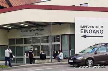 Stark schwankende Liefermengen im Kreisimpfzentrum Mosbach - Buchen - Nachrichten und Informationen - Fränkische Nachrichten