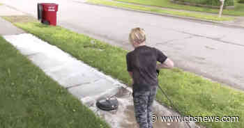 13-year-old starts his own power-washing business