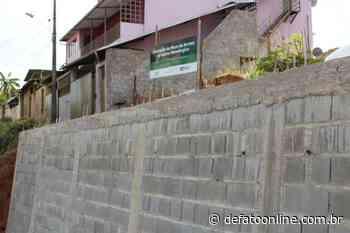Prefeitura de Monlevade conclui muro de arrimo da rua Campos Altos - DeFato Online