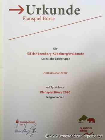 7. Platz für IGS Schönenberg-Kübelberg/Waldmohr: Planspiel-Börse 2020 - Schönenberg-Kübelberg - Wochenblatt-Reporter