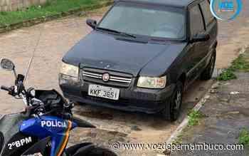 Carro furtado foi recuperado em Carpina - Voz de Pernambuco
