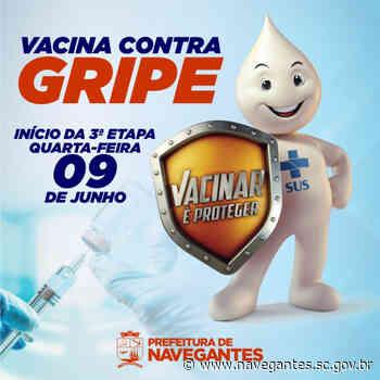 Navegantes entra na terceira etapa da vacinação contra a gripe - Prefeitura de Navegantes