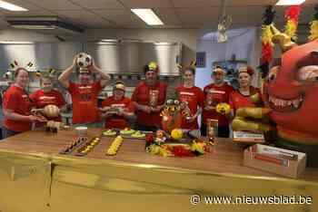 Bakker Bart lanceert reusachtige Rode Duivels mascotte