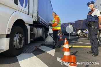 Zware boetes van 1.000 euro voor kale band en slechte remmen bij vrachtwagencontroles