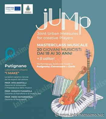 """Putignano - Progetto """"Jump"""", quattro giorni di lezioni per giovani musicisti pugliesi - Putignano Informatissimo"""