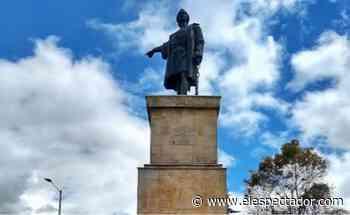 Indígenas intentaron derribar estatua de Cristóbal Colón, en Bogotá - El Espectador