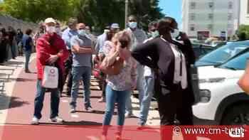 Centenas esperam para receber a vacina anti-Covid em Queluz - CMTV