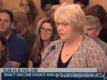 Doctor falsely tells Ohio lawmakers covid shot magnetises people as state grapples with anti-vaxx movement