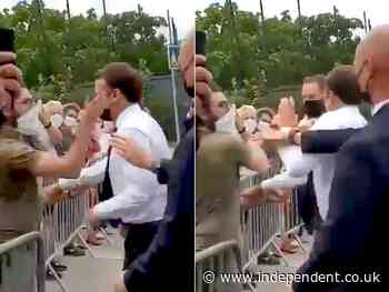 Suspect who filmed Macron being slapped had copy of Mein Kampf at home