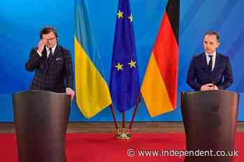 Ukrainian FM presses Germany on arms, cites Russia's weapons