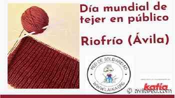 Riofrío celebra el 'Día Mundial de Tejer en público' con la elaboración de una manta solidaria - Avilared