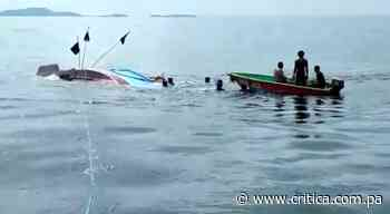 Embarcación se hunde en el golfo de Chiriquí; salvan a la tripulación (Video) - Crítica Panamá