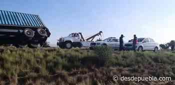 Accidente de camiones sobre la autopista Amozoc-Perote cerca de la caseta de Cantona - desdepuebla.com - DesdePuebla