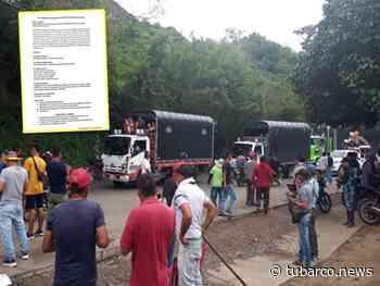 Levantaron el bloqueo de la vía Taminango-Pasto, sector Panoya, tras firma de preacuerdo - TuBarco