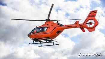 Mit dem Hubschrauber in die Klinik – Unfall bei Medebach - Westfalenpost