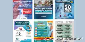 Guaratuba vai vacinar pessoas com 59 anos. Veja como está na sua cidade. - Correio do Litoral