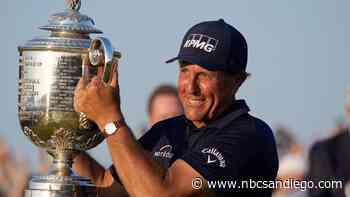 Golf Legend Phil Mickelson Takes Credit for Boom That Shook San Diego Tuesday - NBC San Diego