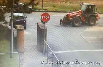 Brighton and Hove News » Witness appeal after forklift trashes Mini - Brighton and Hove News