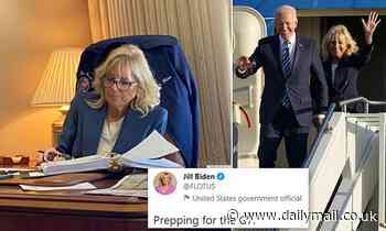 Jill Biden dives into paperwork on Air Force One before UK trip
