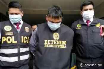 Policía captura en Cerro de Pasco a presunto homicida de menor de 13 años - Agencia Andina