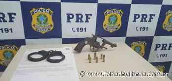 Em Ariquemes, PRF apreende um revólver da marca Forja Taurus, calibre .32. ⋆ Folha de Vilhena - Folha de Vilhena