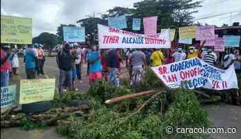 Vía Sucre-Bolívar, bloqueada por habitantes de San Onofre - Caracol Radio