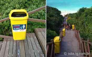 Arraial do Cabo instala lixeiras em escadaria que dá acesso à praia - Jornal O Dia