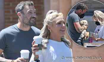Brian Austin Green is spotted out with his girlfriend Sharna Burgess running errands in Malibu