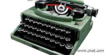 Lego typewriter set features retro look, working keys     - CNET
