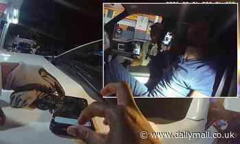 Body-cam video shows cop 'deleting video from suspect's phone after he filmed violent arrest'