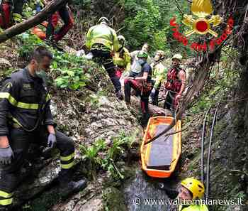 Concesio - Colpito da un albero precipita nel torrente - Val Trompia News