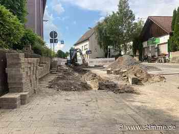 Siegelsbacher Straße in Bad Rappenau nach Wasserrohrbruch gesperrt - STIMME.de - Heilbronner Stimme
