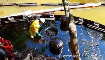 Derrame de petróleo por válvula ilícita en zona rural de Tibú | Noticias de Norte de Santander, Colombia y el mundo - La Opinión Cúcuta