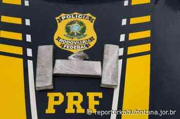 PRF apreende 02 kg de maconha com passageiro de ônibus em Leopoldina. - reporterkadufontana.jor.br - Reporter Kadu Fontana