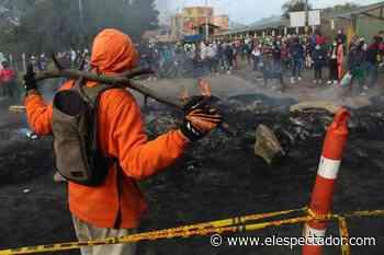 En imágenes: se mantienen los bloqueos en la entrada de Sibaté - El Espectador
