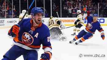 Nelson pots a pair as Islanders dump Bruins to set stage for Cup semifinal against Bolts