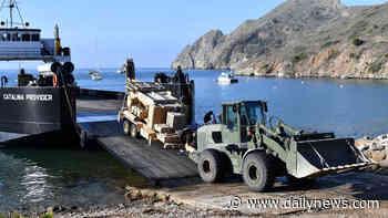 Marines shore up roadways on Catalina Island as part of training - LA Daily News