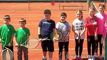 Jüngste Tennisspieler des TC Herzberg zeigen tolle Ballwechsel - HarzKurier