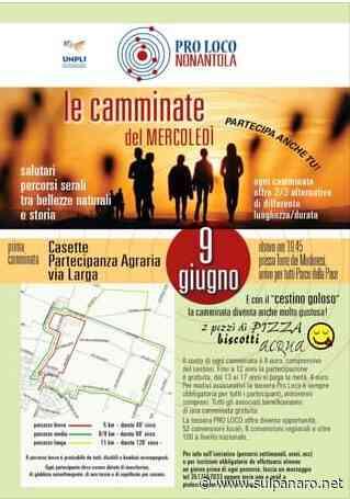 """Nonantola, il 9 giugno """"Camminata del mercoledì"""" organizzata dalla Pro Loco - SulPanaro"""