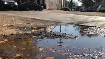 """Pasé y miré: el """"río artificial"""" que creó un caño roto en Guaymallén - MDZ Online"""