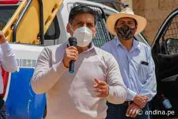 ¡Lo logró! Alcalde de Huaraz se reincorpora a sus actividades tras vencer covid-19 - Agencia Andina