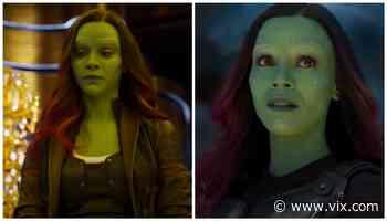 Zoe Saldaña mostró que Gamora se veía diferente al inicio de Guardianes de la Galaxia - VIX