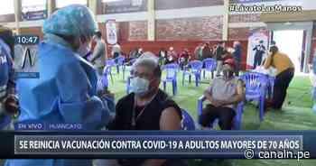Huancayo: Se reinicia la vacunación contra el COVID-19 a adultos mayores de 70 años - Canal N